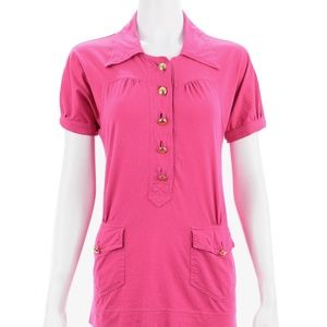 MARC JACOBS PINK COTTON SHORT SLEEVED TOP SIZE M